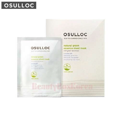 OSULLOC Natural Green Green Tea Sheet Mask 22ml*5ea