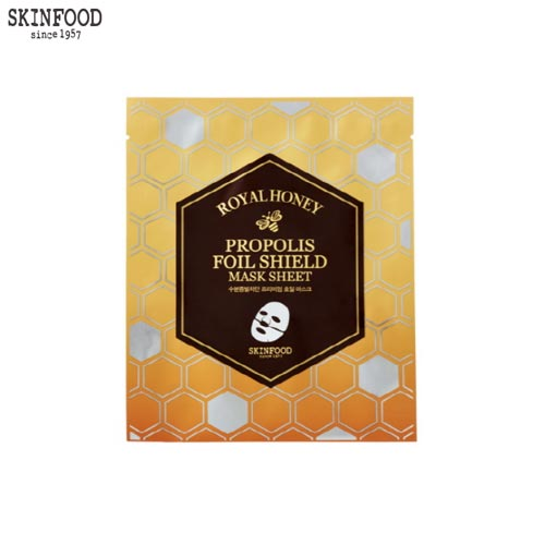 SKINFOOD Royal Honey Propolis Foil Shield Mask Sheet 25g, Skinfood