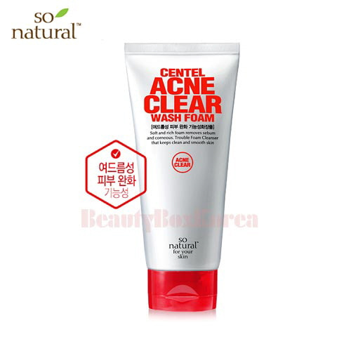 SO NATURAL Centel Acne Clear Wash Foam 120ml