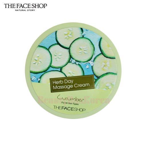 THE FACE SHOP Herb Day Massage Cream 150ml (Cucumber)