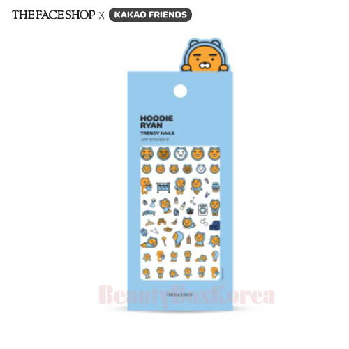 THE FACE SHOP KAKAO FRIENDS Hoodie Ryan Trendy Nails Art Sticker 17 1ea