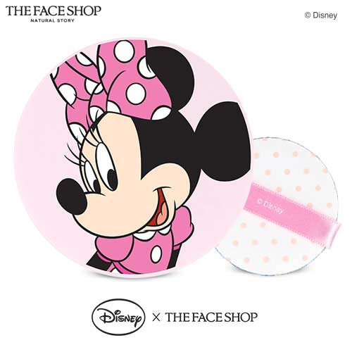 THE FACE SHOP Natural Sun Eco Baby Sun Cushion SPF34PA++ (Mini Mouse) Pact 15g + Puff  (Disney Collaboration) , THE FACE SHOP