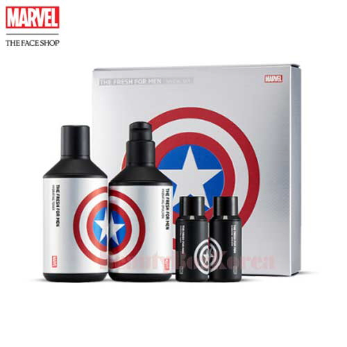 THE FACE SHOP The Fresh For Men Special Set 4items [Marvel Collaboration]
