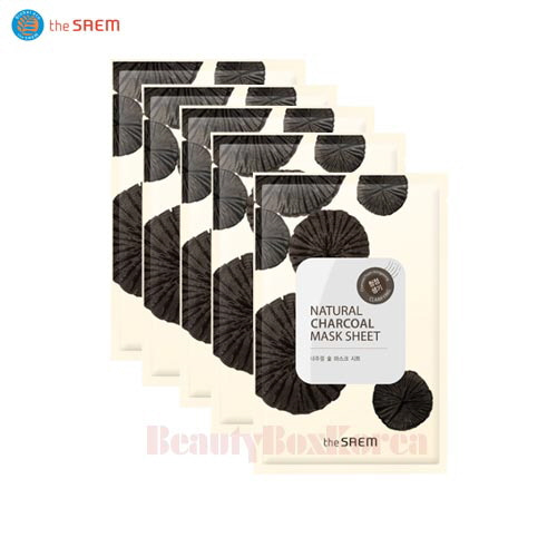 THE SAEM Natural Charcoal Mask Sheet 21ml*10ea