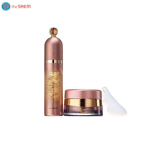 THE SAEM Sooyeran Wild Ginseng Cell Culture Ampoule Essence Set 55g