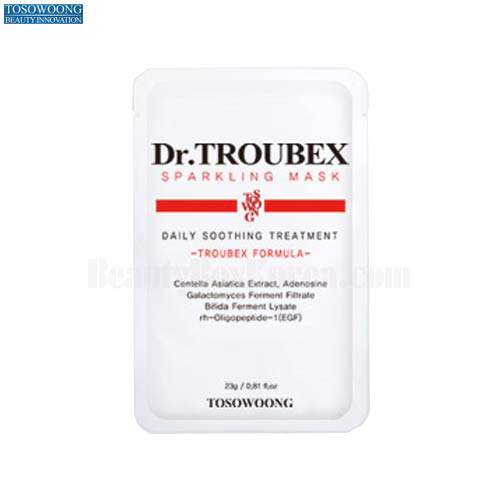 TOSOWOONG Dr.Troubex Sparkling Daily Soothing Mask 23g