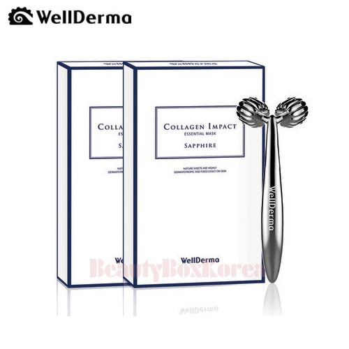 WELLDERMA Collagen Impact Essential Mask (Sapphire) 25g*20ea + Lifting Roller 1ea