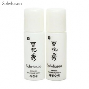 [mini] SULWHASOO Snowise EX Brightening Water 5ml + Whitening Fluid 5 ml Set,Beauty Box Korea