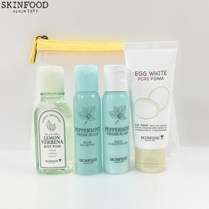 [mini] SKINFOOD Egg Merry Wash Kit 4 items & Mesh Pouch,Beauty Box Korea