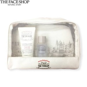 [mini] The face shop The Therapy Anti-Aging Formula Travel Kit  3items with Pouch