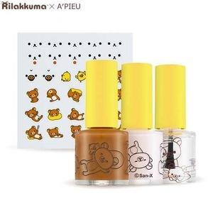 A'PIEU Nail Color & Deco Sticker Kit 1ea (RILAKKUMA Edition) NEW