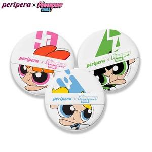 PERIPERA Cushion Puff Set 3pcs [Powerpuff Girls Limited]