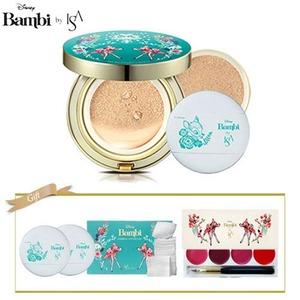 ISA KNOX Micro Foam Cushion SPF50+/PA+++ 15g*2ea+Bambi Special Gift(Lip Palette 4colors+Cushion Puff 2ea+Cotton pads 1box)[Bambi Edition]
