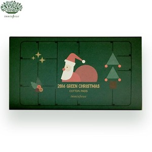 INNISFREE 2016 Green Christmas Cotton Pads 120p [Christmas Limited Edition 2016]