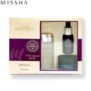 [mini] MISSHA Time Revolution Best Seller Trial Set 3items with cotton pads, MISSHA