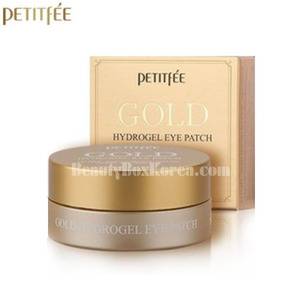 PETITFEE Gold Hydrogel Eye Patch 24K 1.4g*60ea,PETITFEE,Beauty Box Korea