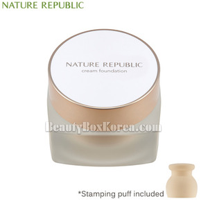 NATURE REPUBLIC Ginseng Royal Silk Cream Foundation SPF37 PA+++ 30ml with Stamping Puff 1ea,NATURE REPUBLIC