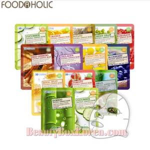 FOODAHOLIC 3D  Natural Essence Mask 23g *20ea