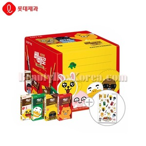 LOTTE KAKAO FRIENDS X PEPERO 16ea+Sticker 1ea