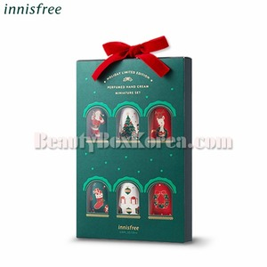 INNISFREE Perfumed Handcream Miniature Set 20ml*6ea[2018 Green Christmas Limited Edition],Beauty Box Korea