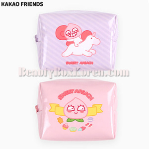 KAKAO FRIENDS Sweet Apeach Enamel Cube Pouch M 1ea