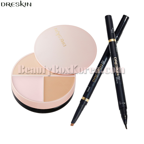 DRESKIN Chippon Pact Balm 14g+3 In 1 Multi Eye Pencil 0.75g
