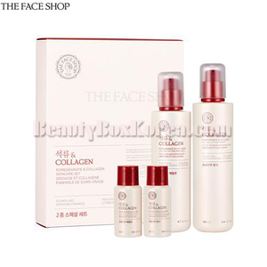 THE FACE SHOP Pomegranate&Collagen Skincare Set 4items