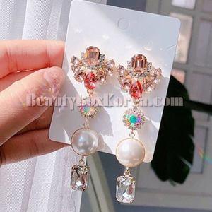 BLING STAR Cubic Pearl square Drop Earring