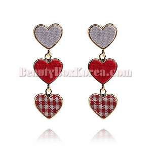 GET ME BLING Fabric Heart Drop Earring