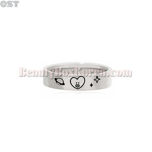 OST X BT21 Silver Ring 1ea