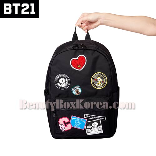 BT21 Black Wappen Backpack 1ea