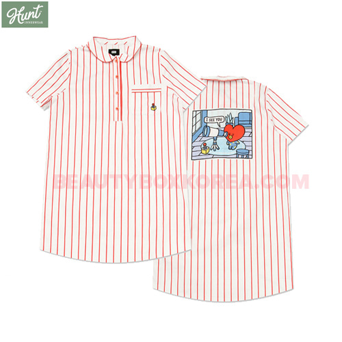 HUNT INNERWEAR BT21 Short Sleeves One Piece Pajama 1ea