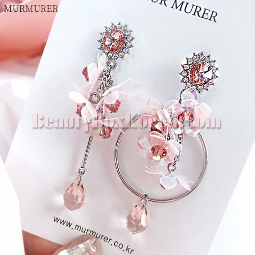 MURMURER Pink Cherry Blossoms Spring Daily Earrings 1ea