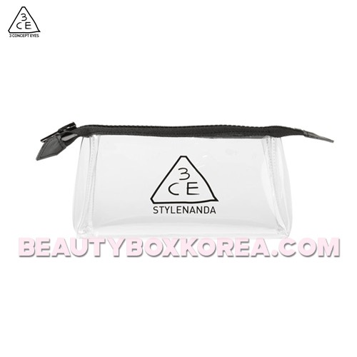 3CE Clear Pouch_Small #Black 1ea