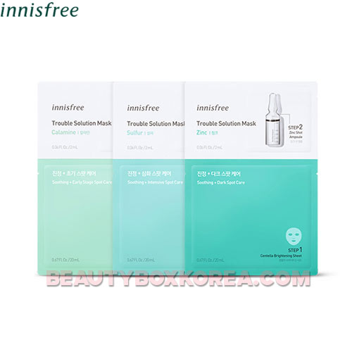 INNISFREE Trouble Solution Mask 22ml*3sheets