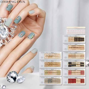 DASHING DIVA Super Slim Fit Nail 10ea [SWAROVSKI Crystal Collection]