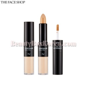 THE FACE SHOP Concealer Dual Veil 4.3g+3.8g,Beauty Box Korea