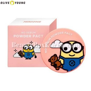 OLIVE YOUNG MINIONS No Sebum Powder Pact 8g