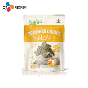 CJ Bibigo Seaweed Crisps Honey&Corn Flavor 20g,Beauty Box Korea