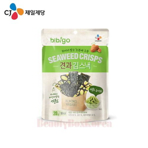 CJ Bibigo Seaweed Crisps Wasabi Flavor 20g,Beauty Box Korea