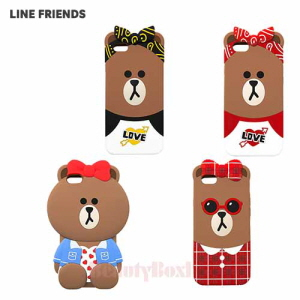 LINE FRIENDS Choco Silicone Bumper Phone Case 1ea