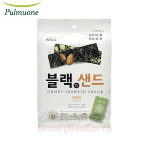 PULMUONE Crispy Seaweed Snack Almond 20g,Beauty Box Korea