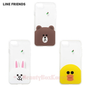LINE FRIENDS Clear Jelly Phone Case 1ea