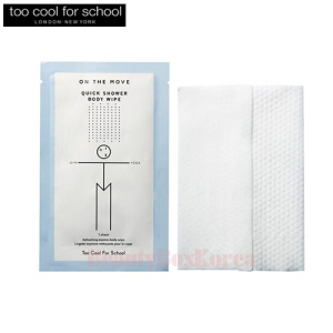 TOO COOL FOR SCHOOL On The Move Quick Shower Body Wipe 2ea
