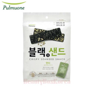 PULMUONE Crispy Seaweed Snack Brown Rice 20g,Beauty Box Korea