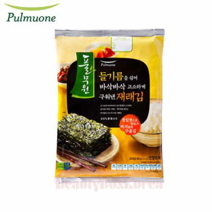 PULMUONE Richly Flavored Traditional Seaweed Roasted Crispy With Perilla Oil 40g,Beauty Box Korea