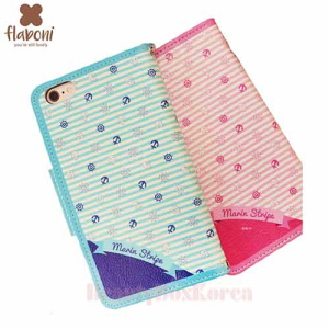 FLABONI 2Kinds Marin Stripe Wallet Phone Case
