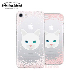 PRINTING ISLAND 8Kinds Cherry Blossom With Cat Phone Case