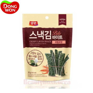 DONGWON Yangban Crispy Laver Snack Bite Shrimp 35g,Beauty Box Korea