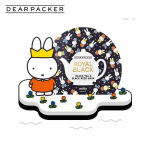 DEARPACKER Black Tea & Black Rose Hydrogel Mask 1ea (Miffy), DEAR PACKER